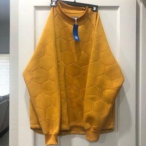 Adidas Gold Honeycomb Sweatshirt NWT